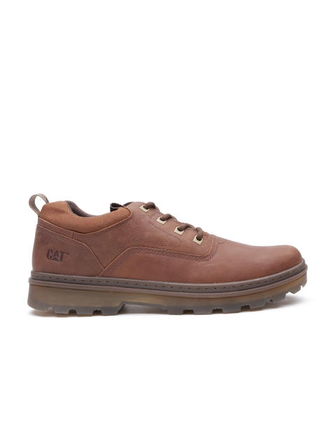 CAT Men Brown Knox Lo Leather Casual Shoes
