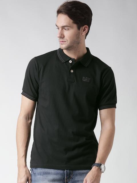CAT Men Black Horse Power Polo T-shirt