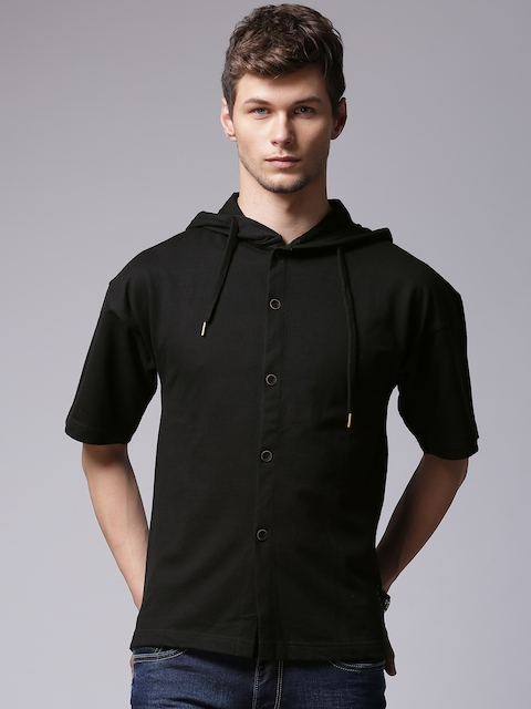 YWC Men Black Casual Shirt