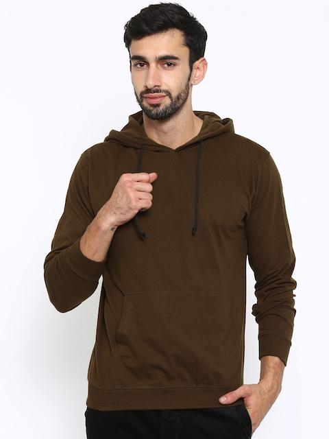 American Crew Brown Hooded Sweatshirt