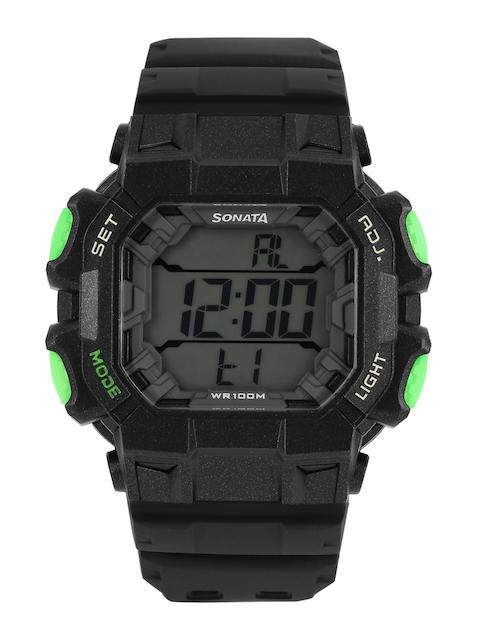 Sonata NH77025PP01 Superfibre Ocean III Digital Watch (NH77025PP01)