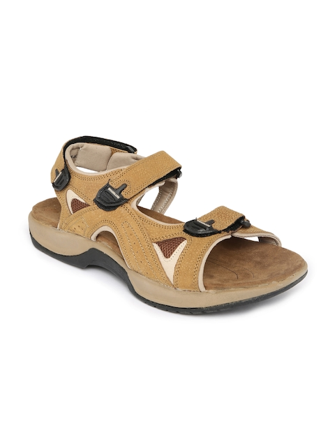 Woodland Men Tan Brown Leather Sandals