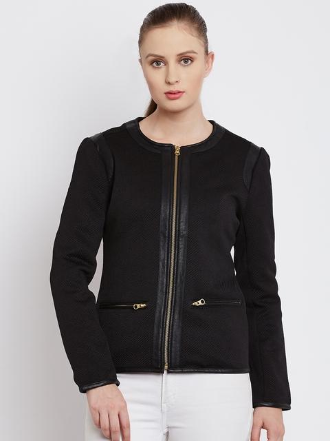 Fort Collins Black Textured Jacket