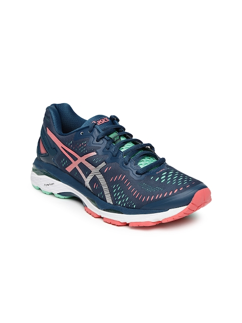 ASICS Women Navy Blue Gel Kayano 23 Running Shoes  available at myntra for Rs.8099