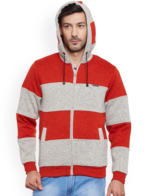 Canary London Grey & Red Hooded Jacket