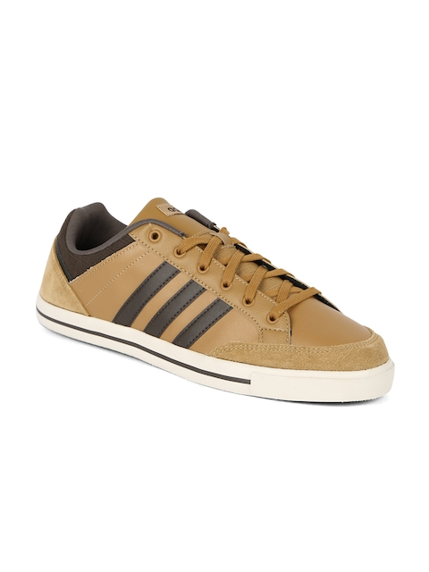 Adidas NEO Men Tan Brown Cacity Sneakers  available at myntra for Rs.1679