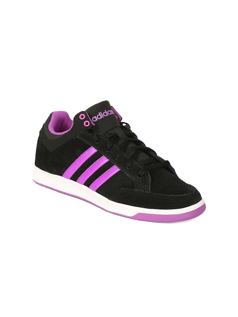 Adidas NEO Women Black Striped Regular Sneakers