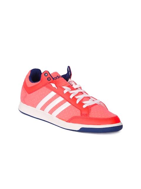 Adidas NEO Women Pink Striped Regular Sneakers