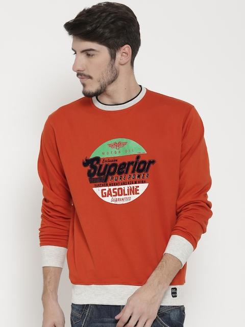 Fort Collins Orange Printed Sweatshirt