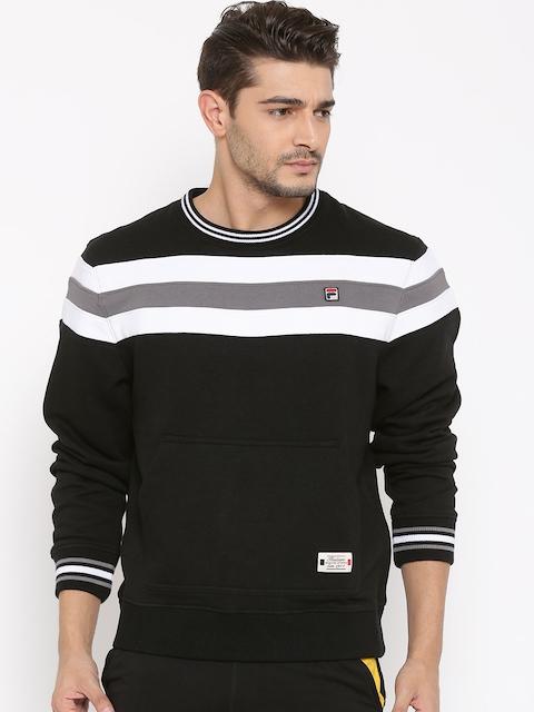 FILA Black CAPTAIN Striped Sweatshirt