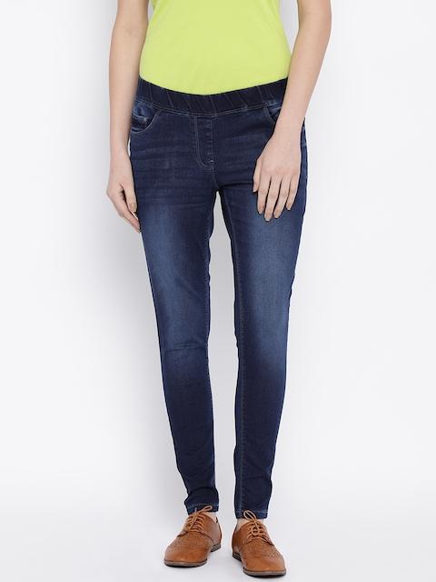 Park Avenue Women Blue Slim Fit Mid-Rise Clean Look Jeans