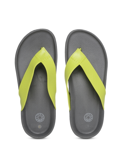 Flipside Men Lime Green & Grey Flip-Flops