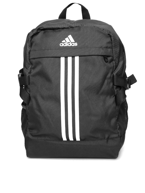 Adidas Unisex Black Power III M Striped Backpack  available at myntra for Rs.1449