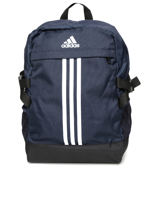 Adidas Unisex Navy Power III M Striped Backpack  available at myntra for Rs.1449