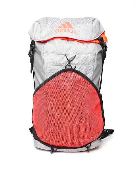 ADIDAS Unisex Grey & Orange X 16.1 Patterned Backpack