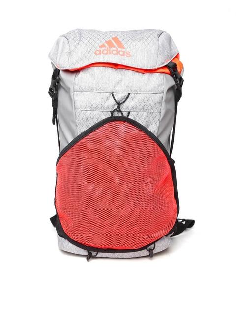 Adidas Unisex Grey & Orange X 16.1 Patterned Backpack