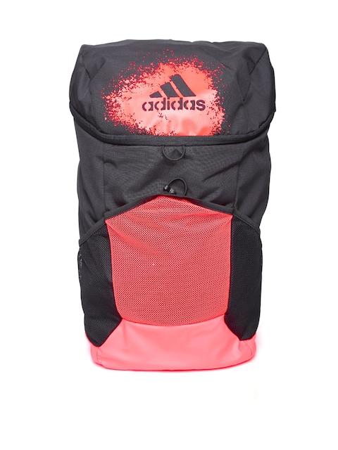 ADIDAS Unisex Black X 16.2 Logo Printed Backpack