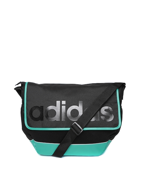 Adidas NEO Men Black Logo Print Daily Messenger Bag  available at myntra for Rs.1199