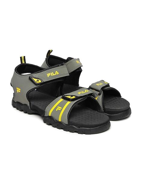 FILA Men Grey & Yellow Renata Sports Sandals