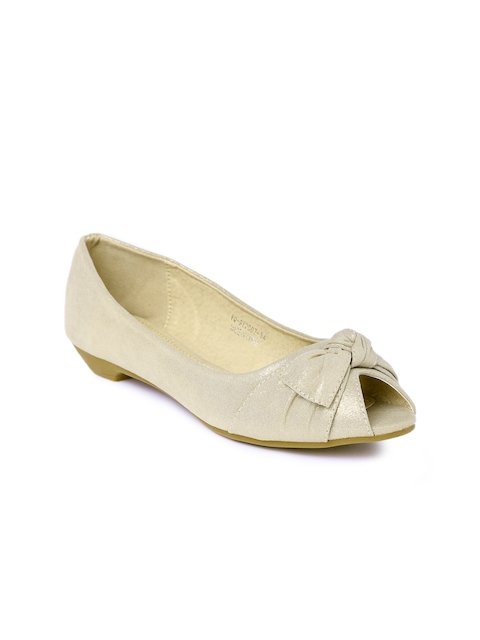 Ginger by Lifestyle Women Gold-Toned Peep-Toes