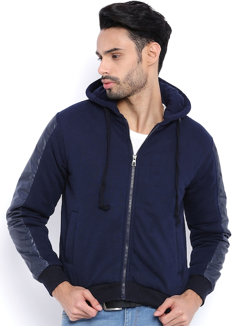 Campus Sutra Brown Hooded Bomber Jacket
