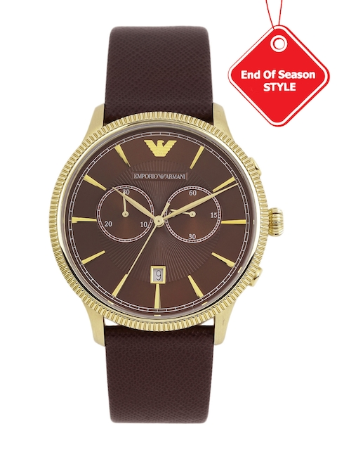 Emporio Armani Men Brown Chronograph Watch AR1809I