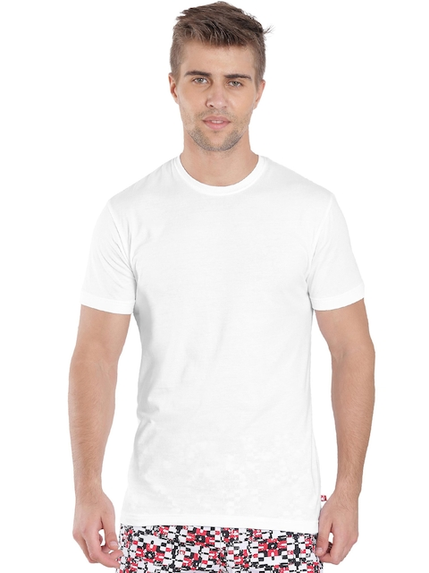 Jockey Men White Solid Inner T-shirt  available at myntra for Rs.279