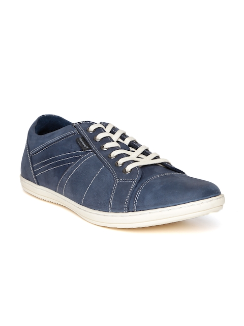 Red Tape Men Navy Leather Sneakers