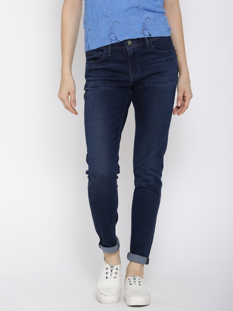 Levis Women Navy Super Skinny Stretchable Jeans 710