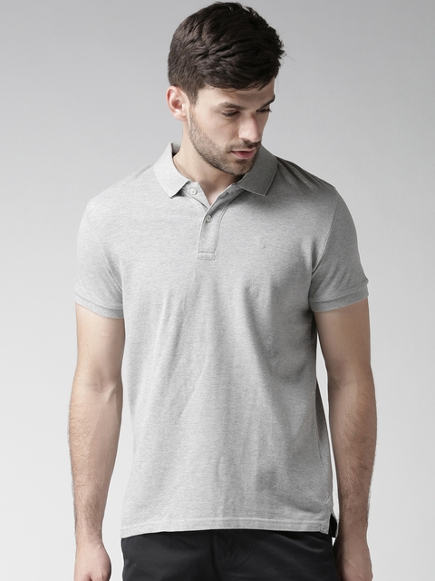 Celio Men Grey Melange Polo T-Shirt  available at myntra for Rs.699