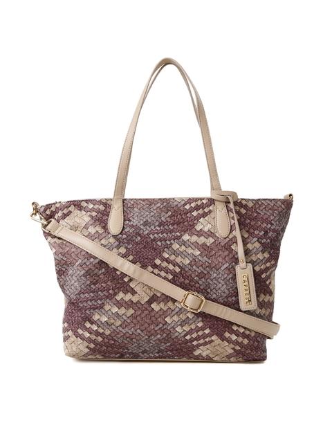 Caprese Beige & Burgundy Patterned Shoulder Bag  available at myntra for Rs.1199