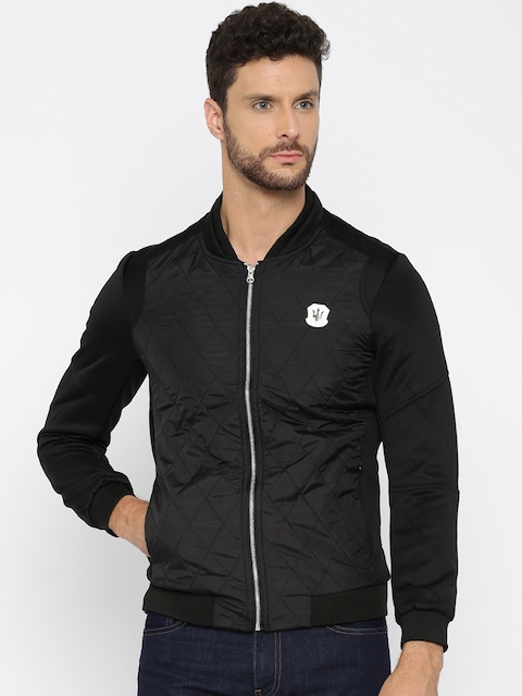 The Indian Garage Co. Black Quilted Bomber Jacket