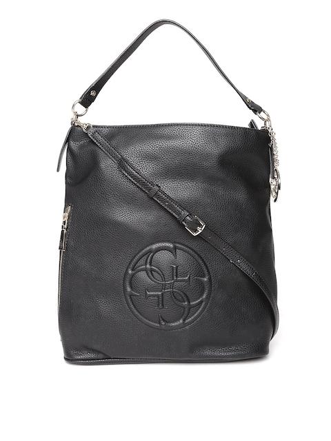 GUESS Black Shoulder Bag with Sling Strap
