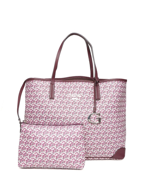 GUESS Pink Printed Shoulder Bag with Pouch