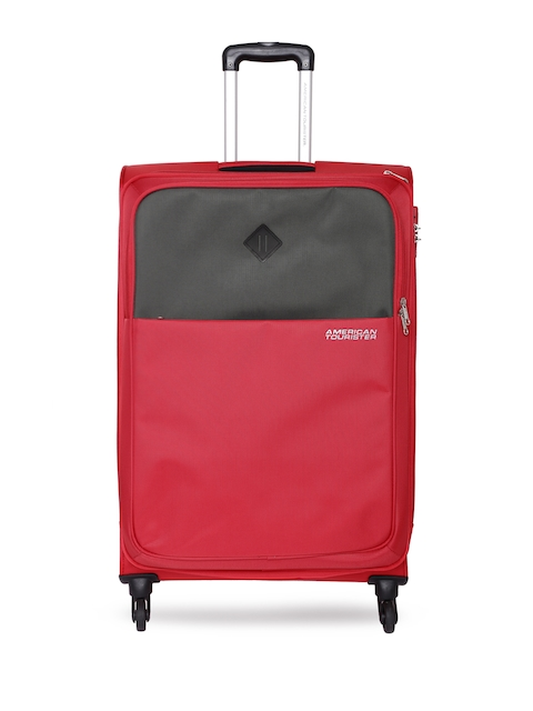 AMERICAN TOURISTER Unisex Red & Grey Medium Tahoe Trolley Bag
