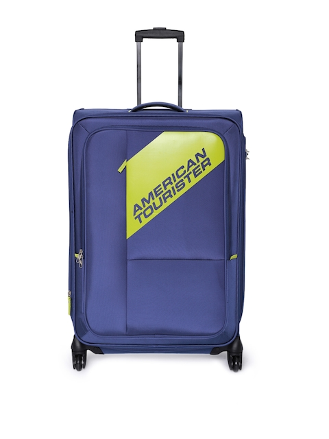 AMERICAN TOURISTER Unisex Blue Cameroon Medium Trolley Bag