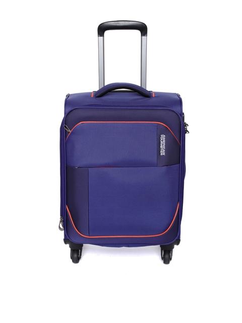 AMERICAN TOURISTER Unisex Blue Warren Sp Small Trolley Bag
