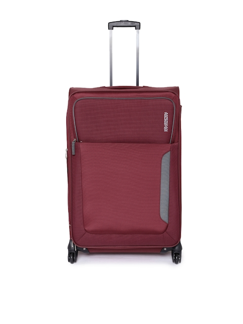 AMERICAN TOURISTER Unisex Maroon Medium Trolley Bag