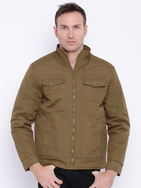 Nature Casuals Khaki Padded Jacket  available at myntra for Rs.1198