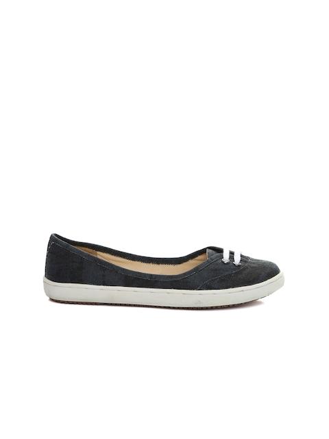 Carlton London Women Charcoal Grey Flat Shoes