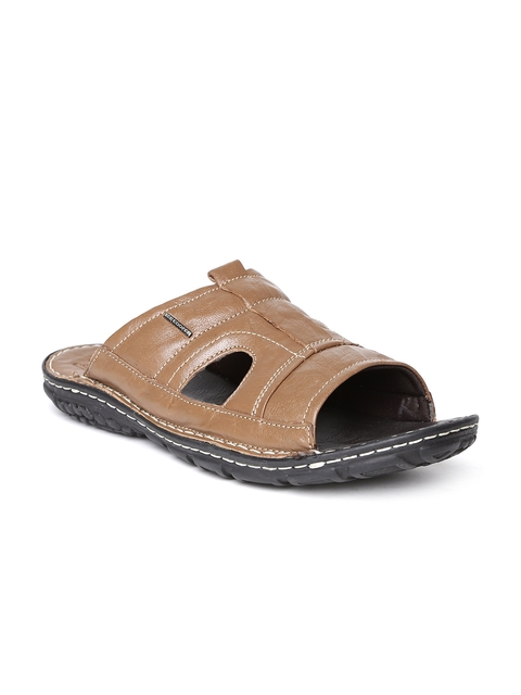 Lee Cooper Men Brown Leather Sandals  available at myntra for Rs.1274