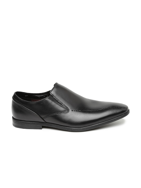 Clarks Men Black Bampton Free Leather Semiformal Slip-Ons