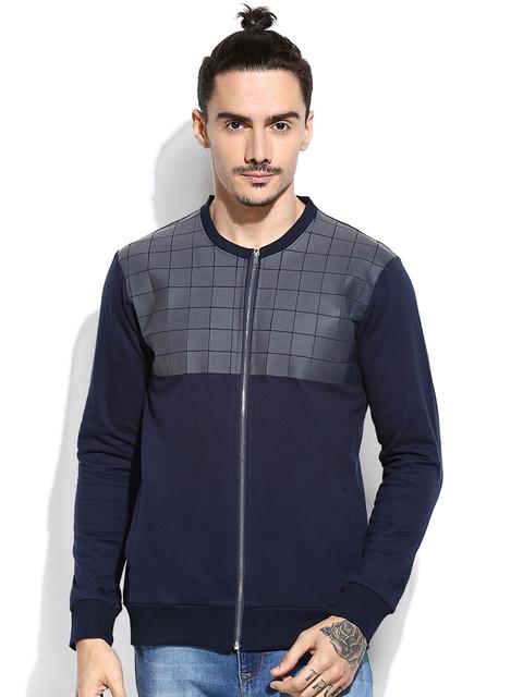 Campus Sutra Navy Sweatshirt