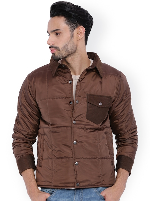 Campus Sutra Brown Quilted Jacket