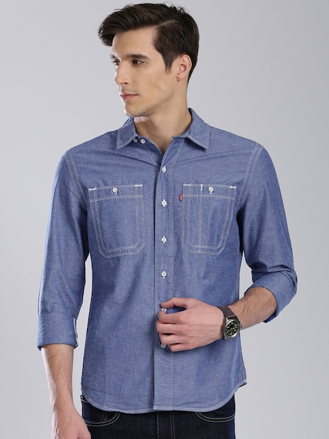 Levis Men Blue Slim Fit Casual Shirt
