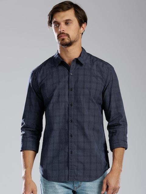 Levi's Men Navy Checked Casual Shirt
