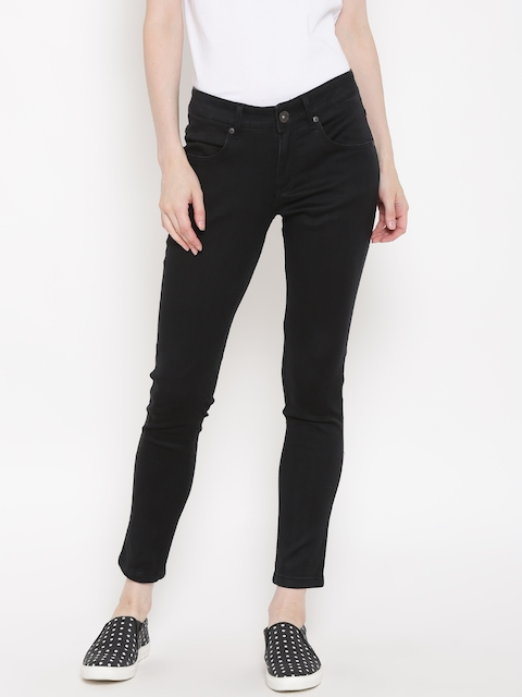 United Colors of Benetton Women Black Mid-Rise Clean Look Jeans