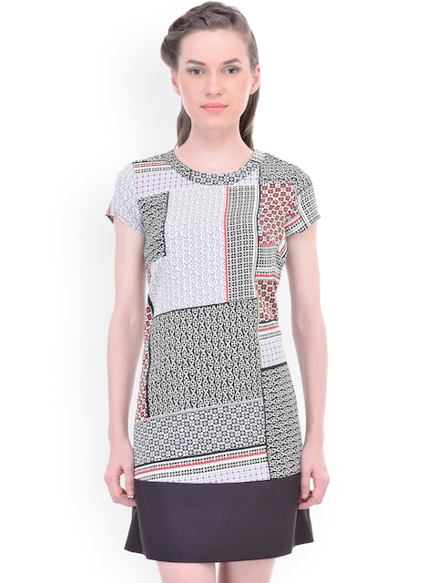 Oxolloxo Women Multicolour Printed A-line Dress  available at myntra for Rs.399
