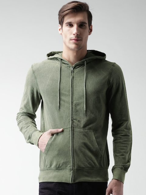 ALCOTT Olive Green Hooded Jacket
