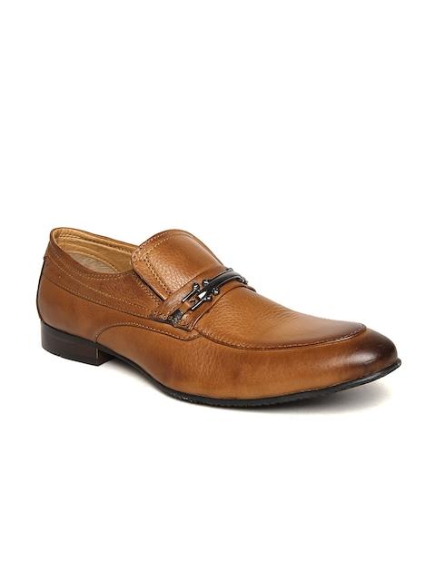 Alberto Torresi Men Tan Brown Leather Semiformal Slip-Ons